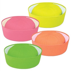 Neon Sailor Hat (1/pkg)