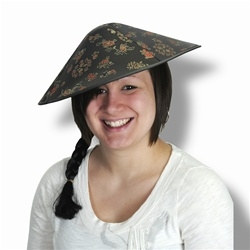 Asian Sun Hat with Braid