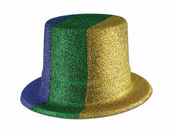 Mardi Gras Glittered Top Hat