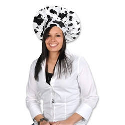 Cow Print Chef's Hat