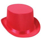 Pink Satin Deluxe Top Hat