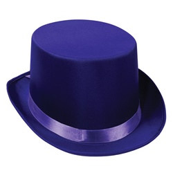 Purple Satin Deluxe Top Hat