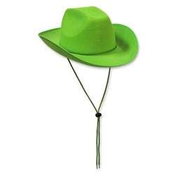 Light Green Felt Cowboy Hat