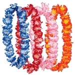 "Whether you planning a Jungle, Luau or Cruise party, your guest will love this colorful Hawaiian Floral Lei set. Sold four per package and colors as pictured, the leis are 34.5"" long. Please Note-Not intended for children."