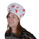 Crawfish Oversized Fabric Chef's Hat