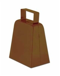 Brown Cowbells, 4in
