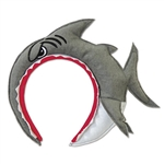 This comfortable Shark Headband is creatively made to have the opening of the shark's mouth rest on your head. It really looks like a shark has a hold of you! It's a very comfortable fit and it will fit most sized heads.