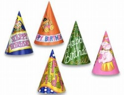 Assorted Happy Birthday Hats (sold 144 per box)