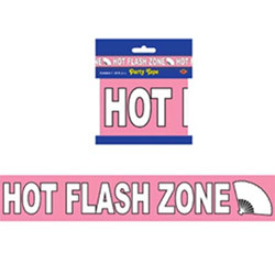 """Hot Flash Zone"" Party Tape, 3""x20'  (1/Pkg)"