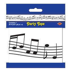 Musical Notes Party Tape