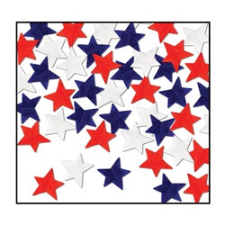 Patriotic Tissue Star Confetti