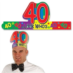 "Look Who's ""40"" Headband"