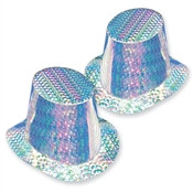 Silver Prismatic Top Hat (sold 25 per box)