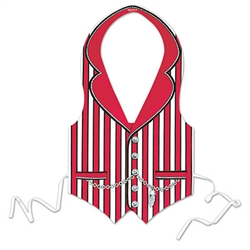 Red Barbershop Quartet Vest