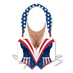Plastic Female Patriotic Vest