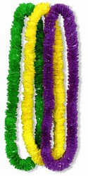 Mardi Gras Soft Twist Poly Leis (sold 12 per box)