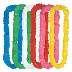 Assorted Deluxe Soft Twist Poly Leis (sold 72 per box)