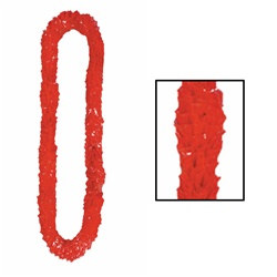 Red Deluxe Soft-Twist Poly Leis