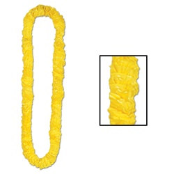 Yellow Deluxe Soft-Twist Poly Leis
