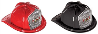 Junior Firefighter Hat - Silver Shield (Select Helmet Color)