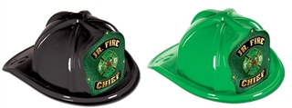 Junior Fire Chief -Green Shield (Select Helmet Color)