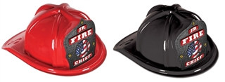 Jr Fire Chief Hat - Patriotic Shield (Select Helmet Color)