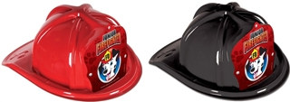 Junior Firefighter Hat - Dalmatian Red Shield (Select Helmet Color)