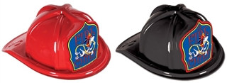 Fire Chief Hat - Dalmatian Blue Shield (Select Helmet Color)