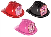 JR Fire Chief Hat - Dalmatian Pink Shield (Select Helmet Color)