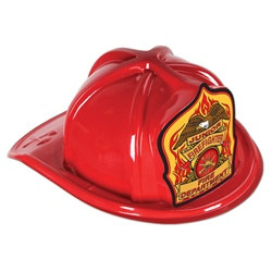 Red Junior Firefighter Hat (Eagle Shield)