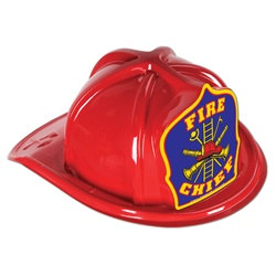 Red Fire Chief Hat (Blue Shield)