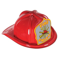 Red Fire Chief Hat (Gray Shield)