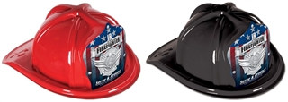 Junior Firefighter Hat with Silver Serve and Protect Shield (Choose Color)