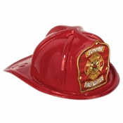 Red Junior Firefighter Hat (Red and Gold Shield)
