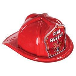 Red Fire Rescue Firefighter Hat
