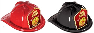 Fire Chief Hat - Red Shield (Select Helmet Color)