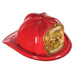 Red Junior Firefighter Hat (Gold Shield)