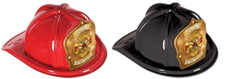 Junior Firefighter Hat - Gold Shield (Select Helmet Color)