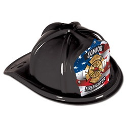 Black Junior Firefighter Hat