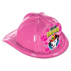 Junior Pink Firefighter Hat (Dalmatian Pink Shield)