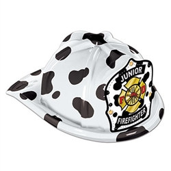 Dalmatian Plastic Jr Firefighter Hat (child size)
