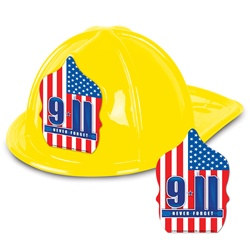 9-11 Yellow Plastic Fire Chief Hat