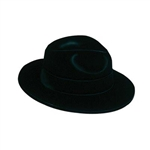 Black Velour Fedora