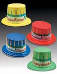 Assorted Happy Birthday Cake Top Hats (1/pkg)