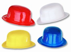Assorted Plastic Derby Hats (1/pkg)