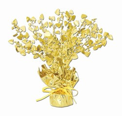 Gold Heart Gleam N Burst Centerpiece