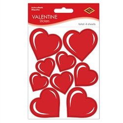 Heart Stickers (4 sheets/pkg)