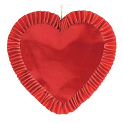 Heart with Red Satin Ribbon