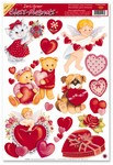 Valentine Window Clings (13/sheet)