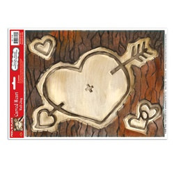 Carved Heart Peel N Place (1/sheet)